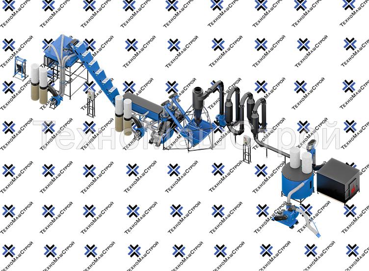 Оборудование для производства пеллет  МЛГ-1000 DUO полный цикл